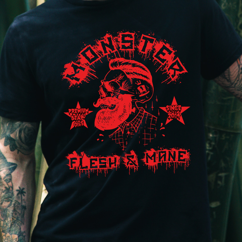 MONSTER T-Shirt Red Skull Design
