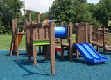 Blue GroundSmart Rubber Mulch Playground