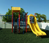 Green GroundSmart Rubber Mulch Playground