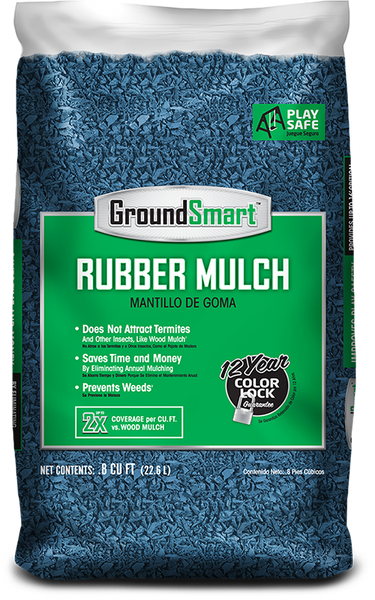 Rubber Bark Chips ~ Lb bags lbs total groundsmart rubber mulch