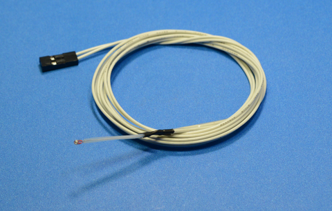 Fully assembled thermistor
