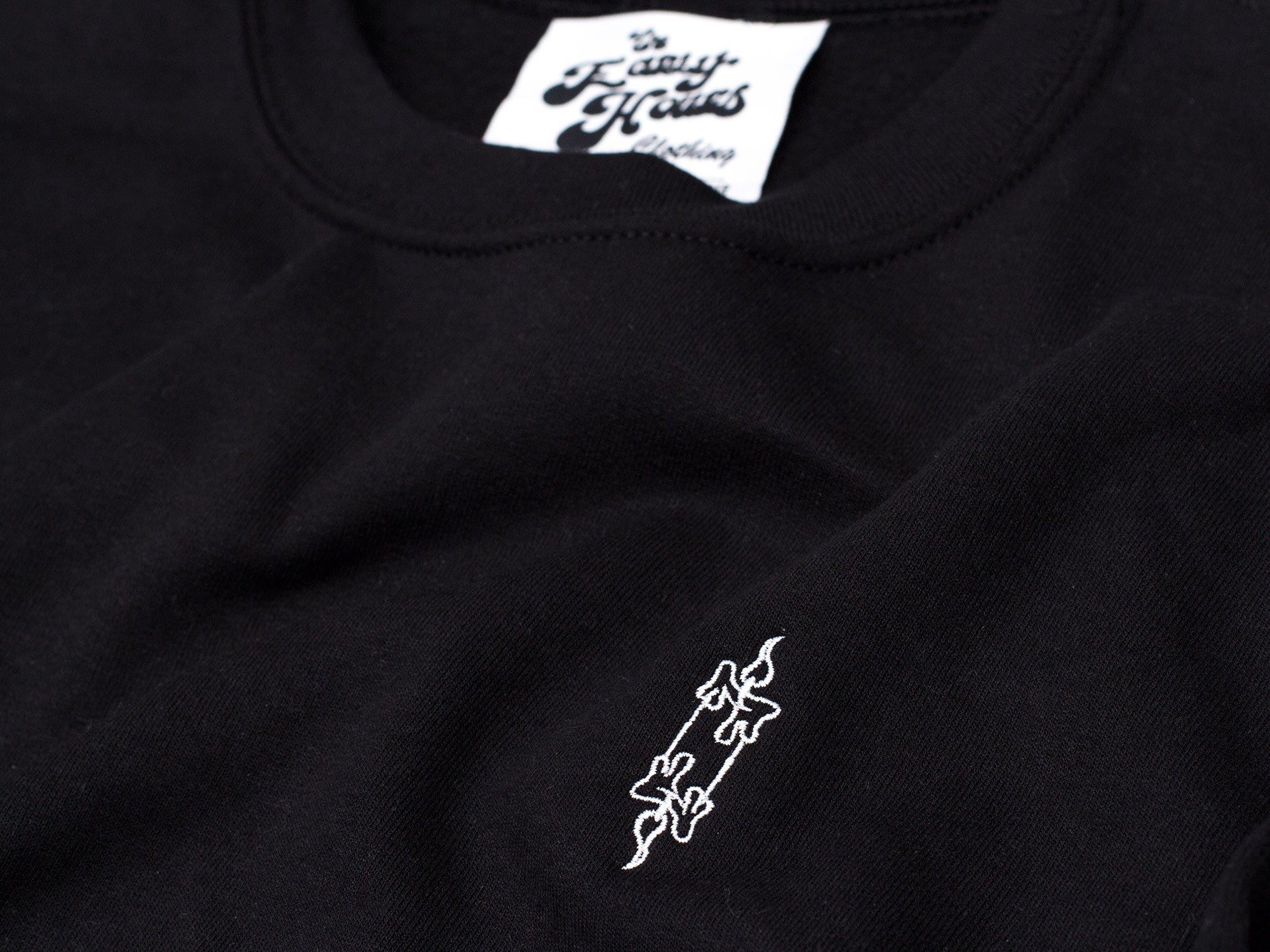 25e46b50 ... Candle Crewneck (Black, White) - The Early Hours Clothing - 3 ...