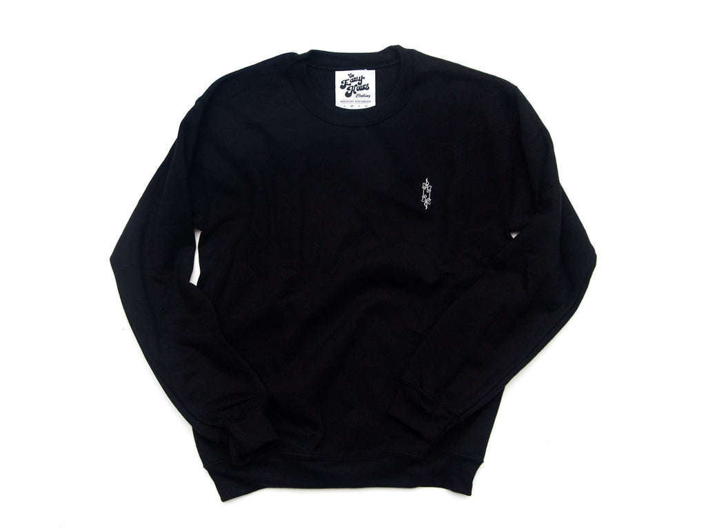 2a4b8fa2 Candle Crewneck (Black, White) - The Early Hours Clothing - 1