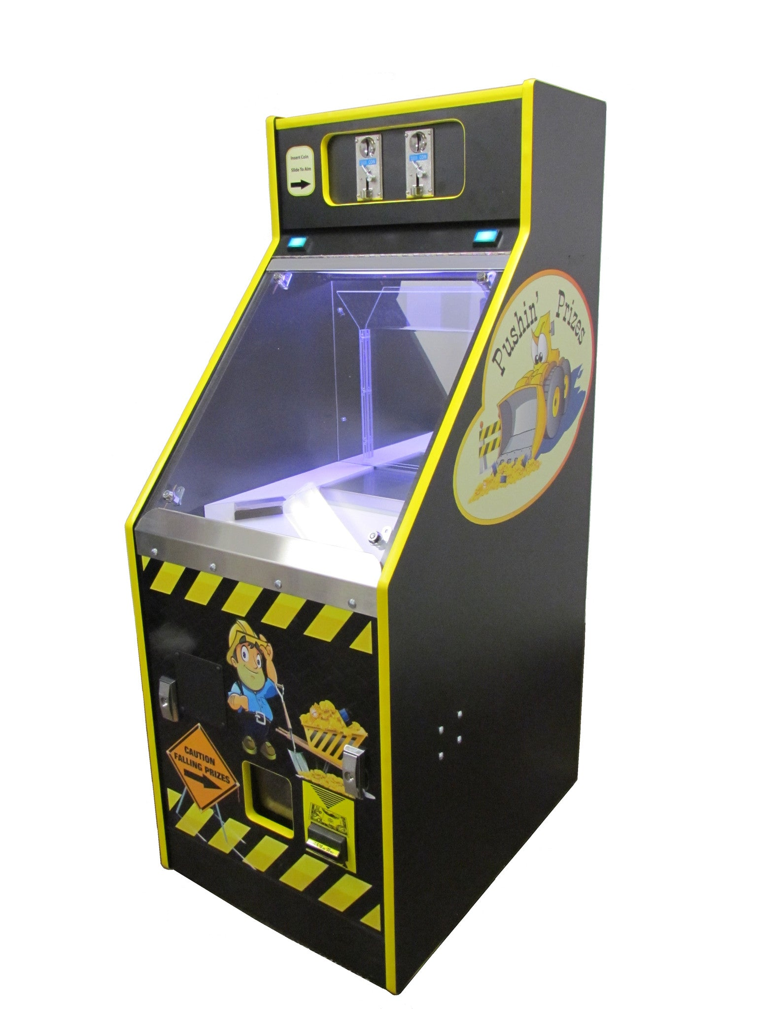 Win prizes playing coin pusher