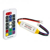 Waterproof Mini RGB Controller with RF Remote - 10A