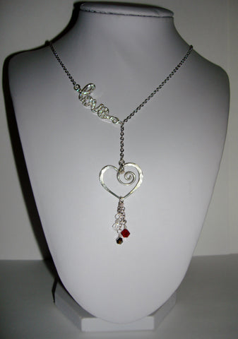 Blingy Love Necklace - Red