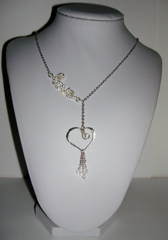 Blingy Love Necklace - Crystal