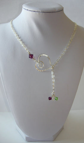 Birthstone Necklace - Heart - Mother's Day, Birthday!