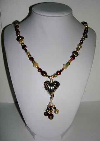 Earthy Pearls with Heart