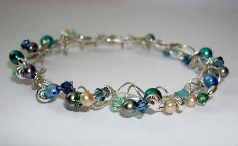 Encrusted Bracelet - Sea Glass