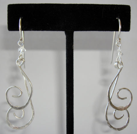 Double Swirl Dangle Earrings