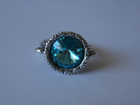 Big Bling Ring - Light Turquoise