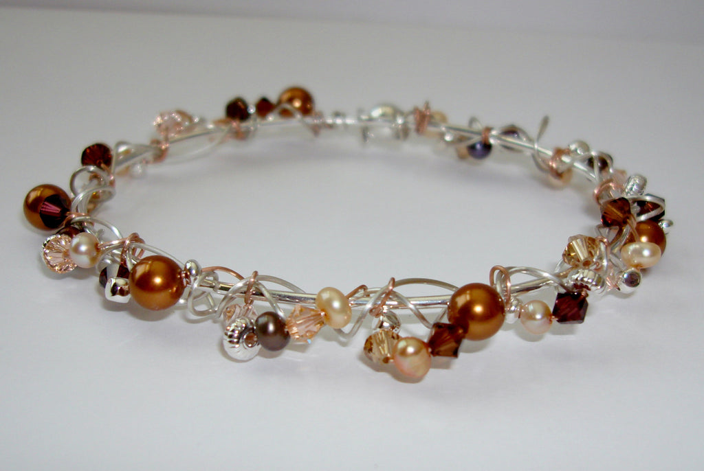 Encrusted Bracelet - Warm Copper