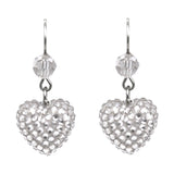 Small Crystal Pave' Hearts