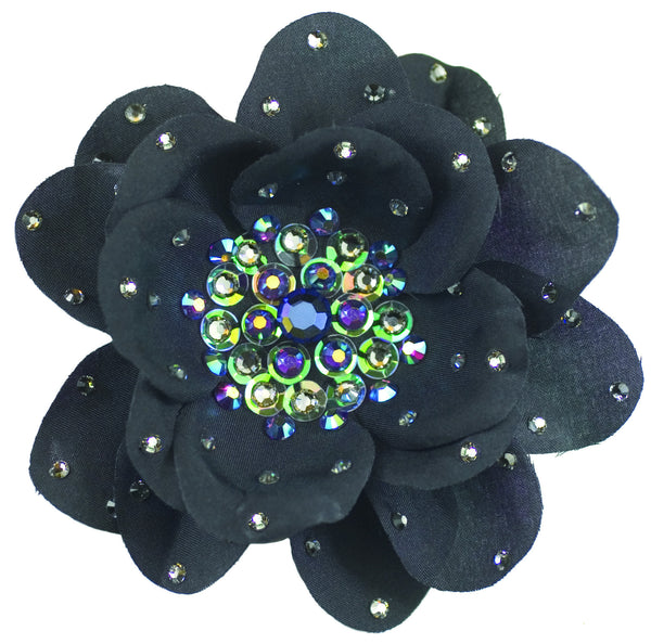 Large Poppy Flower Anywhere Clip - Black