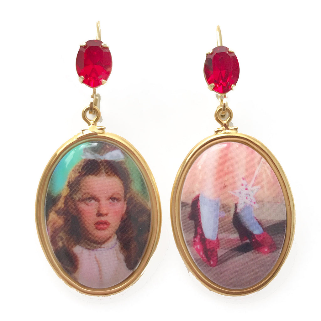 Dorothy & Ruby Slippers Earrings
