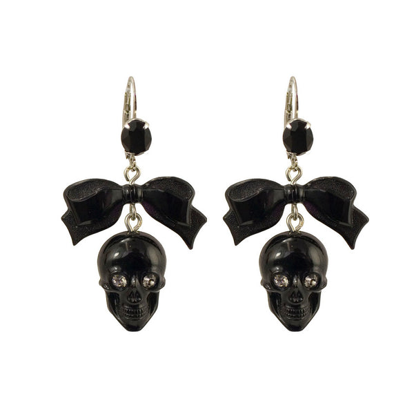 Skull Bow Earrings