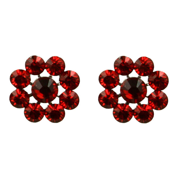 Crystal Flower Earrings
