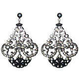 Micro Pave' Chandelier Earrings - Black