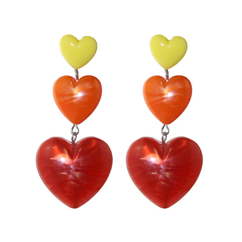 """Heart Throb"" Drop Earrings"