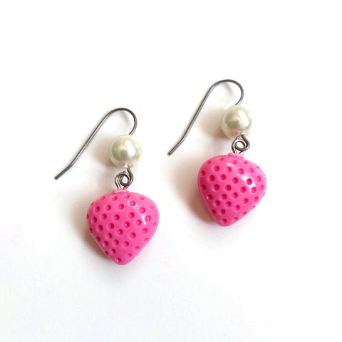 Strawberry Pearl Earrings