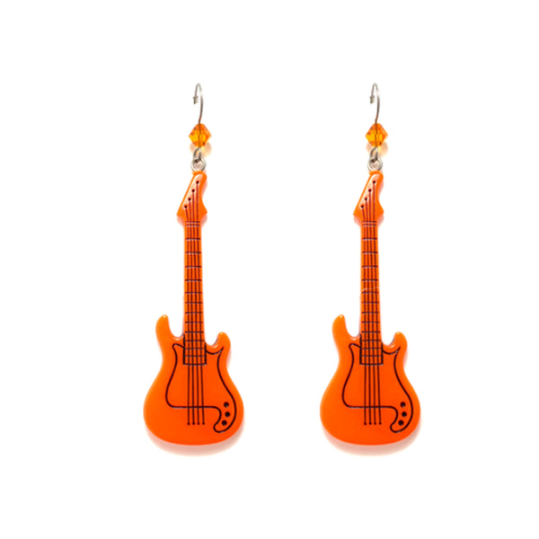 Glow Guitar Earrings