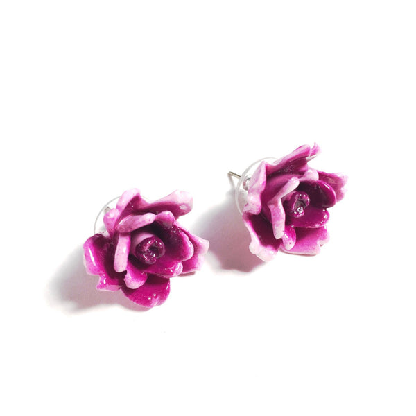 Rose Post Earrings
