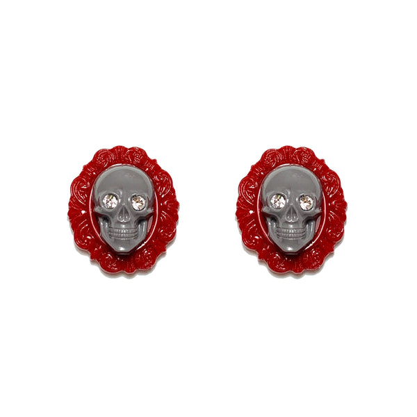 Skull Portrait Earrings