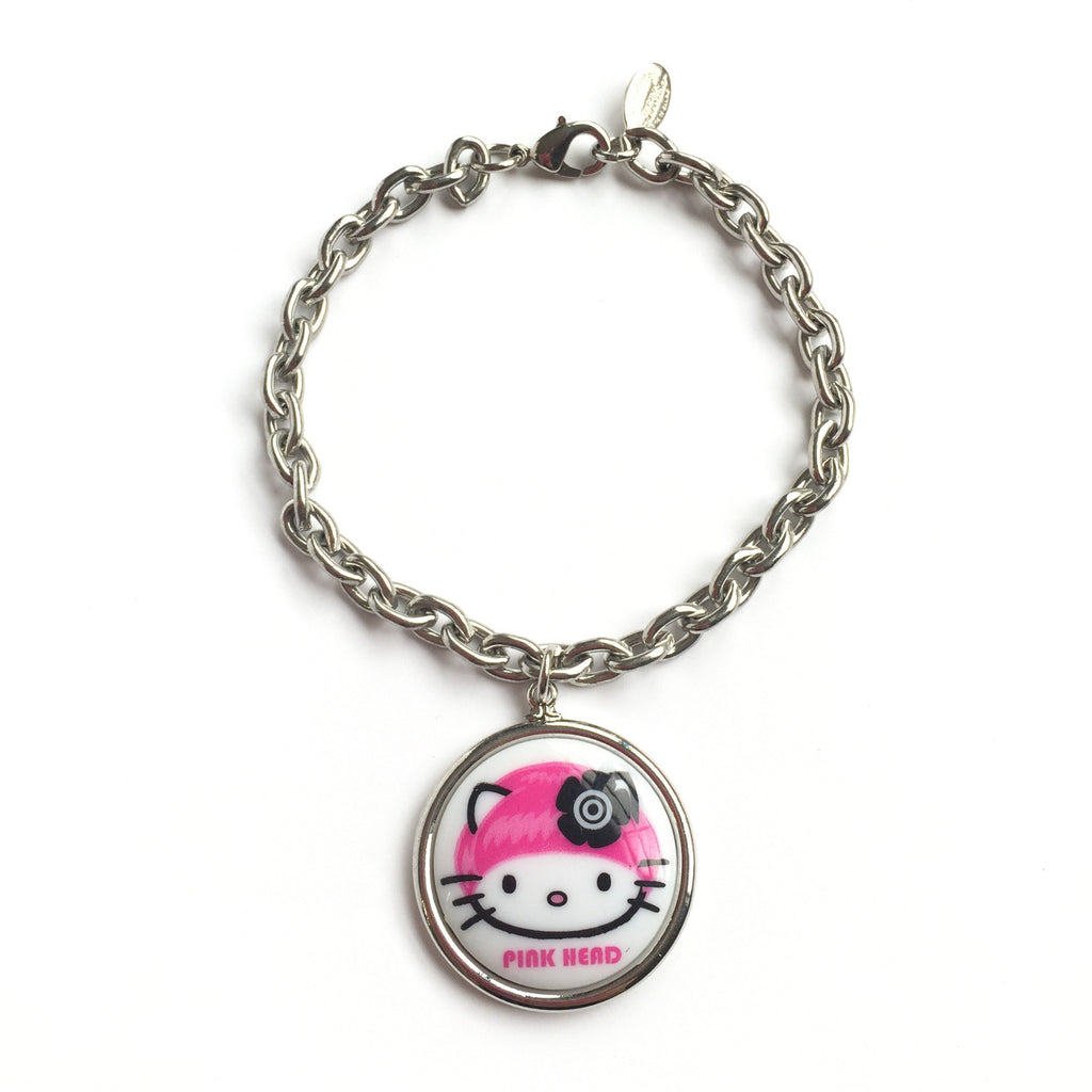 Kitty Mini Medallion Bracelet