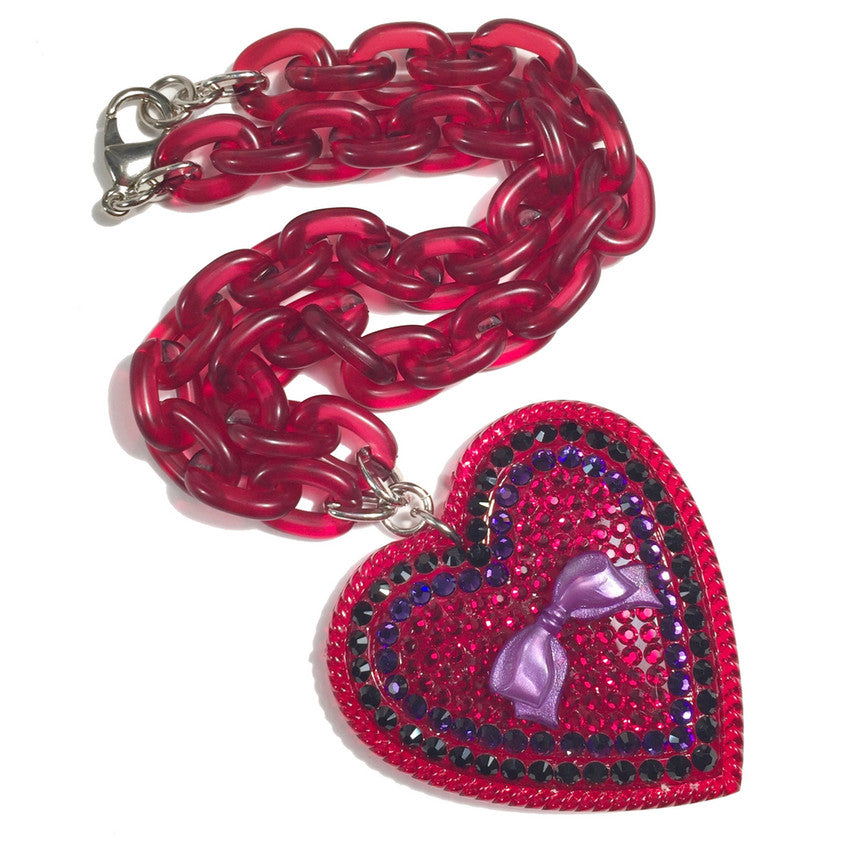 Black Cherry Heart Necklace