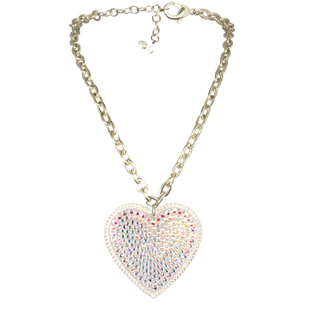 """Big Love"" Pave' Heart Necklace"