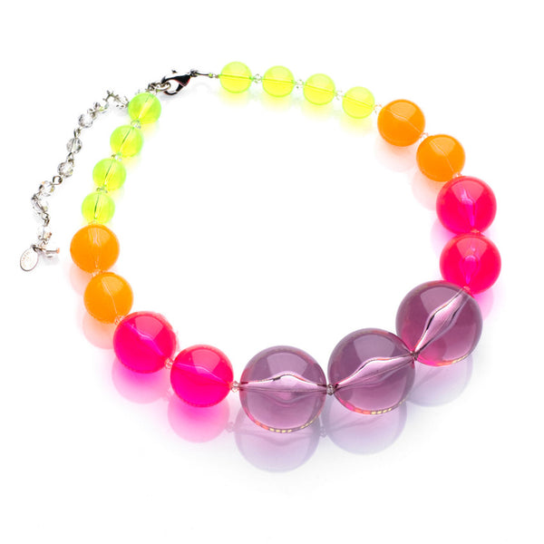 Neon Lucite Large Bead Necklace