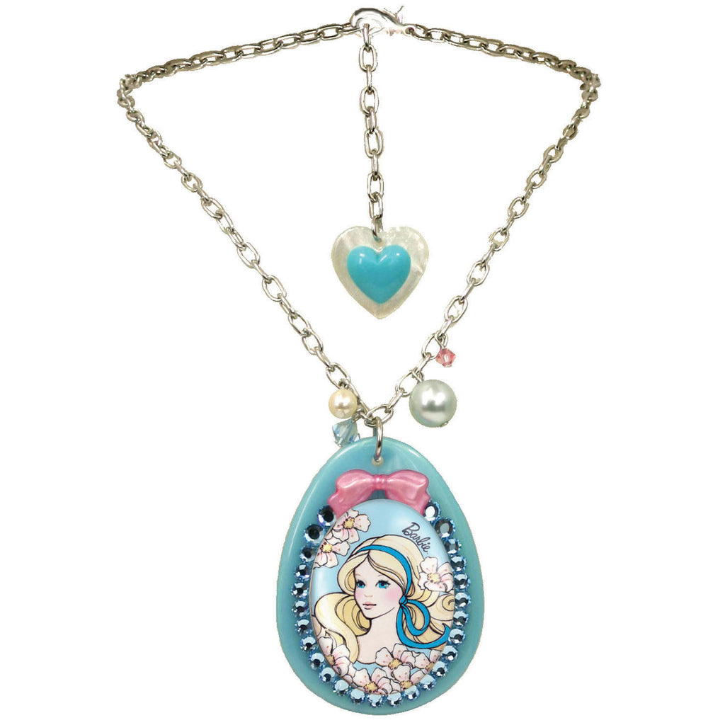 """Springtime Barbie"" Pendant Necklace"