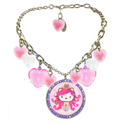 Pink Heart Nouveau Multi-Necklace