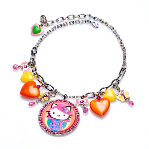 Pink Head Rainbow Necklace