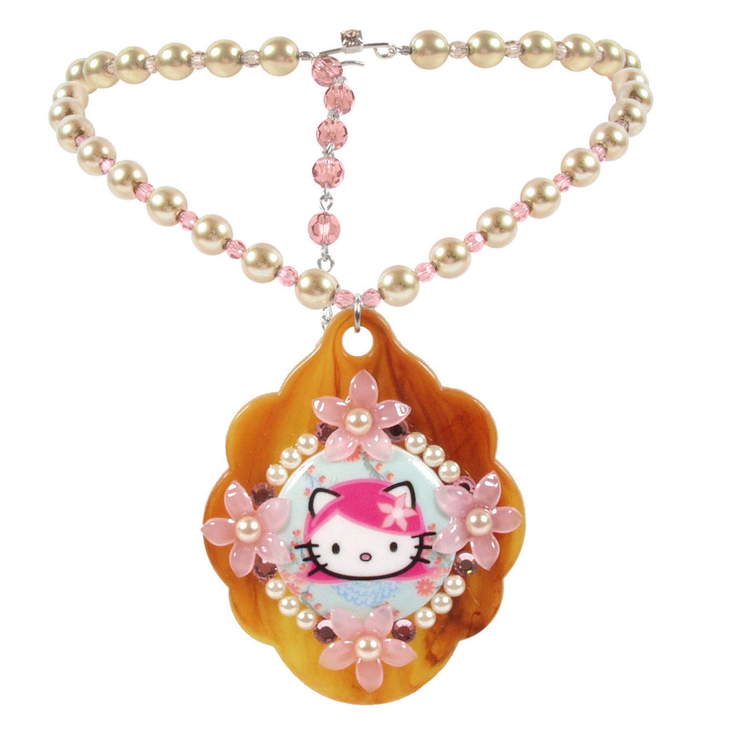 Classic Pink Head Necklace