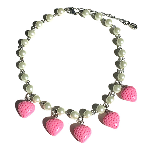 Strawberry Pearl Choker