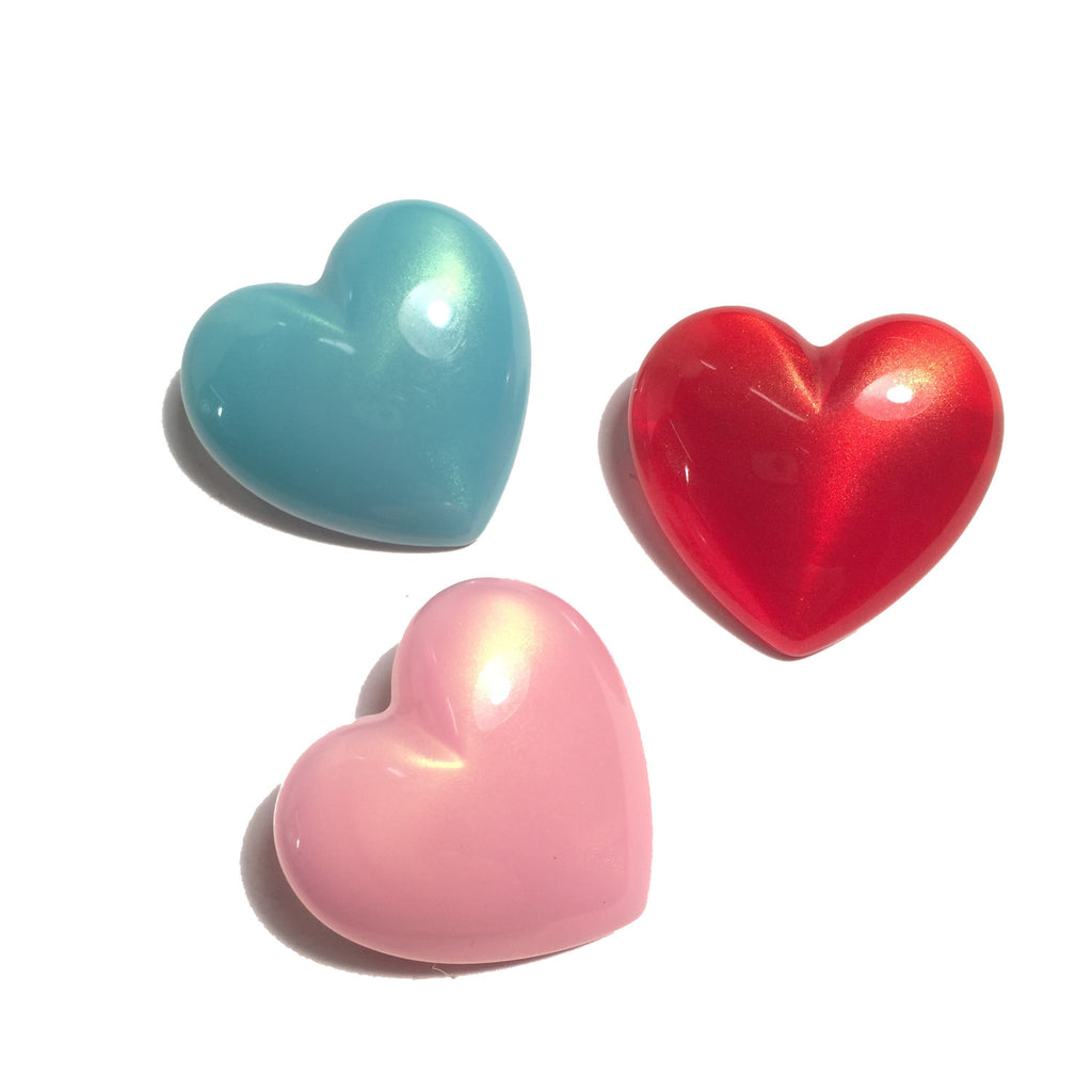 Puff Heart Pin Set