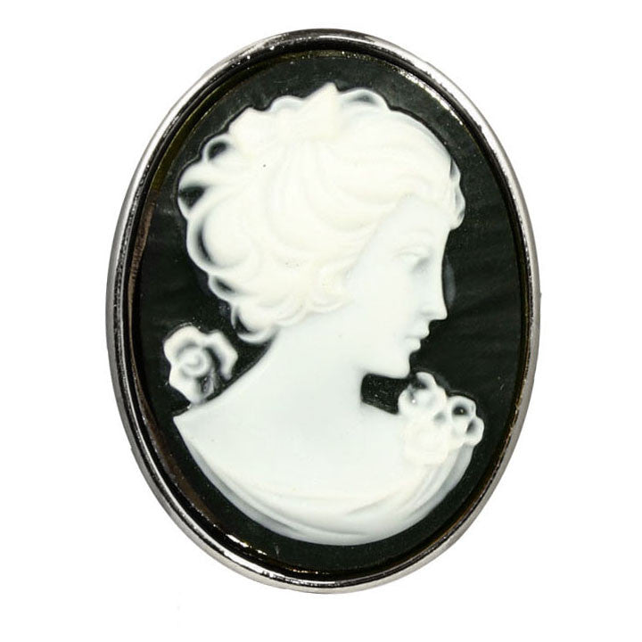 """Claudette"" Large Cameo Ring"