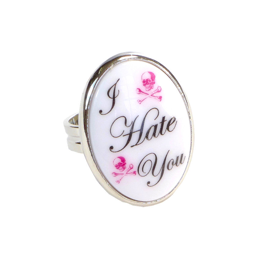 """I Hate You"" Ring"