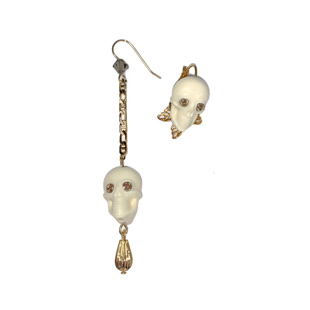 MisMatch Skull Earrings