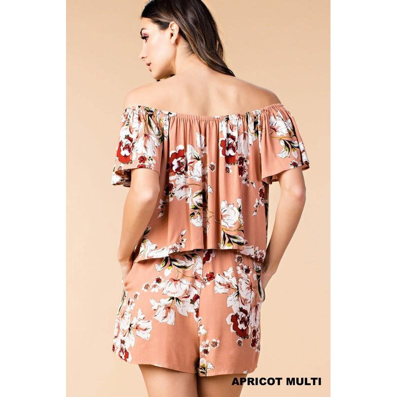 Hard to Handle Romper- Apricot