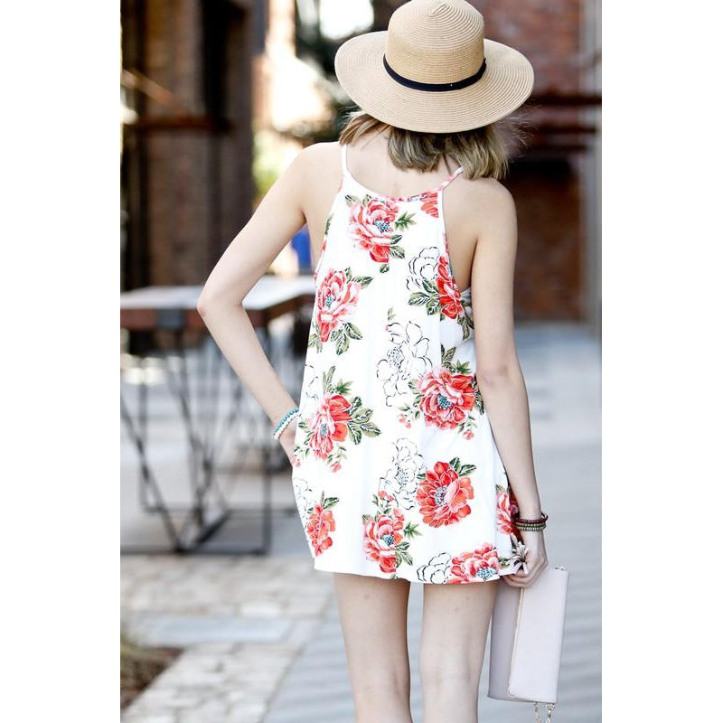 An Endless Summer White Floral Tank