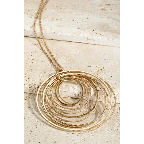 Ripple Necklace- Gold