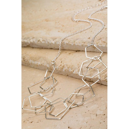 Geometric Necklace- Silver