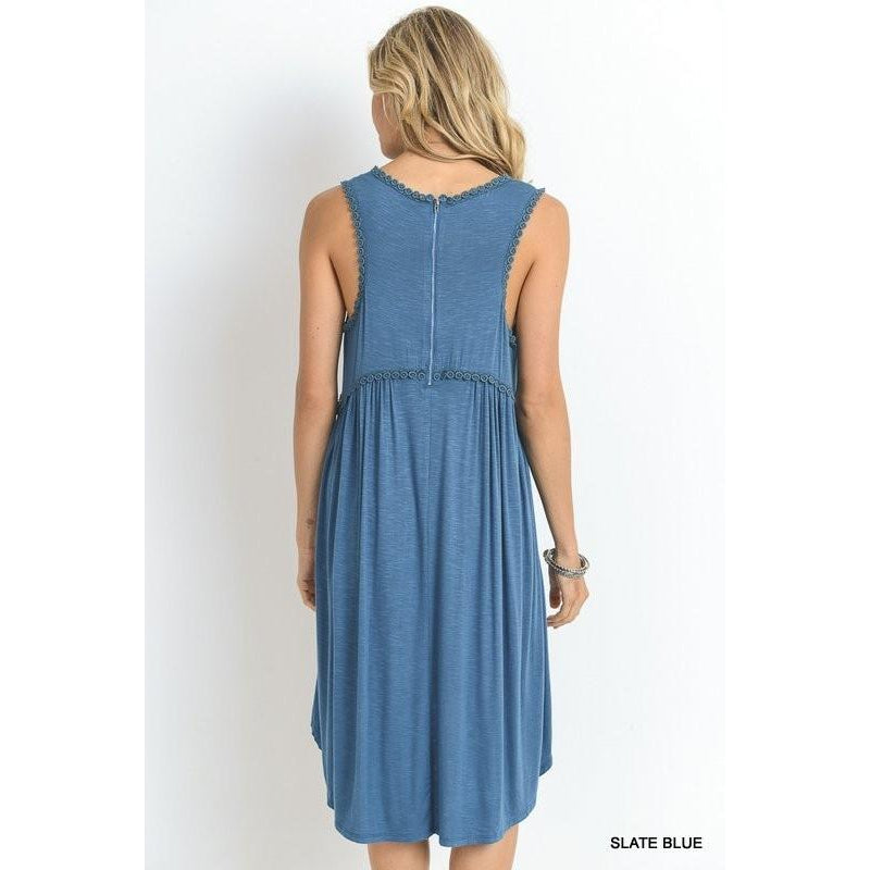 Summer Fever Dress- Slate Blue
