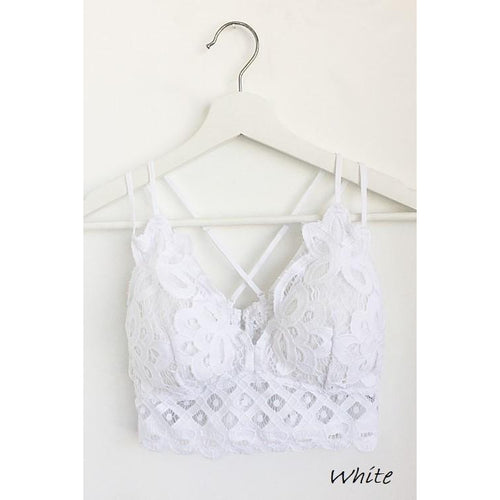 Lace and Lovers Bralette- White