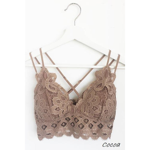 Lace and Lovers Bralette- Cocoa