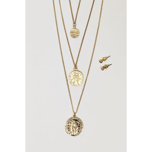 Darcie Coin Necklace- Gold