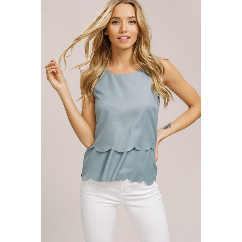 Sweet and Sassy Top- Sage